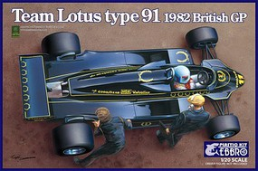 Ebbro 1/20 1982 Lotus Type 91 Team Lotus F1 British Grand Prix Race Car