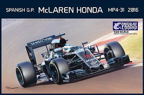 Ebbro 1/20 2016 McLaren Honda MP4-31 F1 Spanish Grand Prix Race Car