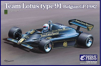 Ebbro 1/20 1982 Lotus Type 91 Team Lotus F1 Belgian Grand Prix Race Car