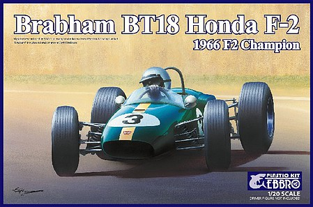 Ebbro 1 20 1966 Brabham Honda Bt18 F2 Champion Race Car New Tool 22