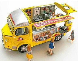 Ebbro 1/24 Citroen Type H Mobile food Truck w/Interior Details & Figures (ETA 2019)