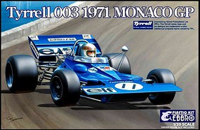 Ebbro 1/20 1971 Tyrrell 003 Monaco Grand Prix Race Car