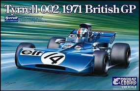 Ebbro 1/20 1971 Tyrrell 002 British Grand Prix Race Car