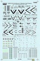 Echelon USMC M1A1HA Heavy Common Abrams Plastic Model Tank Decal 1/35 Scale #35004