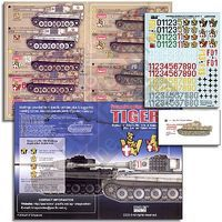 Echelon PzKpfw VI Ausf E Tiger I SchwPzAbt 506 Plastic Model Tank Decal 1/35 Scale #351008