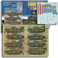 Echelon British Inf Mk IV Churchill Operation Jubilee Pt2 Plastic Model Tank Decal 1/35 #352016