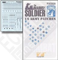 Echelon Marks of a Soldier US Army Patches Plastic Model Military Decal 1/35 Scale #353020