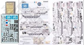 Echelon UNIFIL Leclerc T6 UN for a Tamiya Model Plastic Model Tank Decal 1/35 Scale #356002