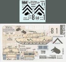 Echelon M1A1 Abrams 3-67 Armor Tiger Brigade Plastic Model Tank Decal 1/35 Scale #356025