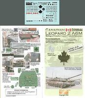 Echelon Canadian Leopard A6M Afghanistan Plastic Model Tank Decal 1/35 Scale #356044