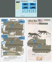 Echelon 2-8th Inf (Mech) M113A1s Vietnam Plastic Model Military Decal 1/35 Scale #356090