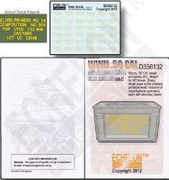 Echelon WWII .50cal M2 Ammo Box Labels Style 2 Plastic Model Military Decal 1/35 Scale #356132