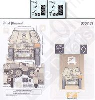 Echelon SdKfz 139 Marder III Ausf H Plastic Model Military Decal 1/35 Scale #356139