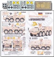 Echelon GTK Boxers (GTFz) Afghanistan Plastic Model Military Decal 1/35 Scale #356141