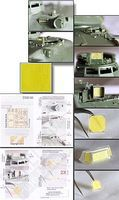 Echelon AMX30B & AUF1 155mm SPH Vision Block & Panel Mask Plastic Model Military Decal 1/35 #356160