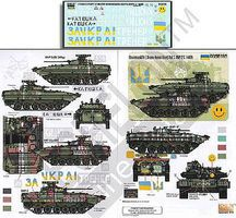 Echelon Ukrainian AFVs Ukraine-Russia Crisis Pt.3 Plastic Model Military Decal 1/35 Scale #356195