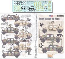 Echelon Humvees in Operation Iraqi Freedom Plastic Model Military Decal 1/35 Scale #356209