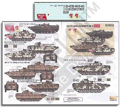 MVD BMP1Ps in Chechen War decals Echelon Decals 356190 1//35 101st Battalion