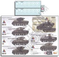 Echelon Sandbagged Shermans of the 14th Armored Division Plastic Model Military Decal 1/35 #356219