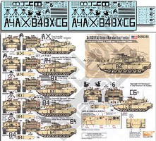 Echelon 1/35 3rd ACR M1A2 Abrams OIF Tanks from Apache, Bandit & Crazyhorse Troops