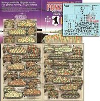 Echelon PzKpfw VI Ausf H/J Plastic Model Tank Decal 1/48 Scale #481013
