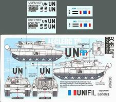 Echelon UNIFIL Leclerc T6 UN Plastic Model Tank Decal 1/72 Scale #726002