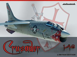 Eduard-Models Crusader Aircraft (Ltd Edition Plastic Kit) Plastic Model Airplane 1/48 Scale #11110