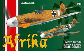 Eduard-Models Afrika Fighter Dual Combo (Limited Edition) Plastic Model Airplane Kit 1/48 Scale #11116