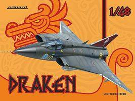 Eduard-Models Draken Aircraft (Limited Edition Plastic Kit) Plastic Model Airplane 1/48 Scale #1135