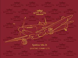 Eduard-Models Royal Class Spitfire Mk IX Fighter Quattro Combo Plastic Model Airplane Kit 1/72 Scale #13
