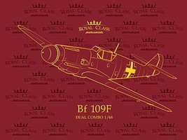 Eduard-Models Royal Class Bf109F Fighter Dual Combo Plastic Model Airplane Kit 1/72 #14