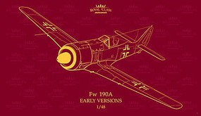 Eduard-Models Fw190A Early Version Fighter (Limited Edition) Plastic Model Airplane Kit 1/48 Scale #16