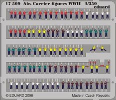 Eduard-Models Aircraft Carrier Figures WWII (Painted) Plastic Model Ship Figure 1/350 #17509