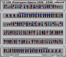 Eduard-Models 1920s Era Passengers (Painted) Plastic Model Figure 1/350 Scale #17510