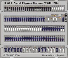 Eduard-Models German Navy Figures WWII (Painted) Plastic Model Ship Figure 1/350 Scale #17511
