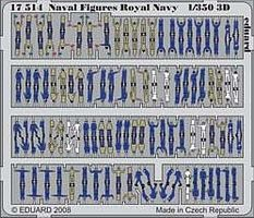 Eduard-Models Royal Navy Figures (Painted Self Adhesive) Plastic Model Ship Figure 1/350 #17514
