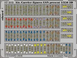 Eduard-Models USN Present Aircraft Carrier Figures Plastic Model Ship Figure 1/350 Scale #17515