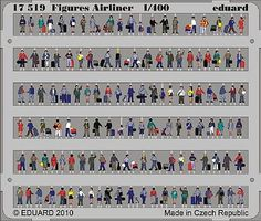 Eduard-Models Airliner Figures (Painted) Plastic Model Airplane Figure 1/400 Scale #17519