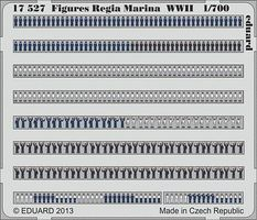 Eduard-Models WWII Regia Marina Figures (Painted Self Adhesive) Plastic Model Ship Figure 1/700 #17527