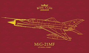 Eduard-Models 1/72 Royal Class- Mig21MF Fighter (Ltd Edition Plastic Kit)