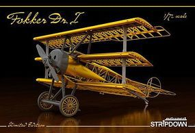 Eduard-Models Fokker Dr I Stripdown Aircraft Plastic Model Airplane Kit 1/72 Scale #2114