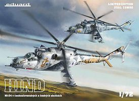 Eduard-Models Mi24 in Czech & Czechoslovak Service Aircraft Dual Combo 1/72 Scale Model Helicopter #2116