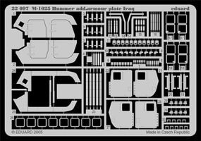 Eduard-Models M1025 Hummer Additional Armor Plate Plastic Model Vehicle Accessory 1/72 #22097