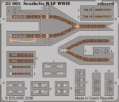 Eduard-Models Aircraft Seatbelts RAF WWII (Painted) Plastic Model Aircraft Decal 1/24 Scale #23005