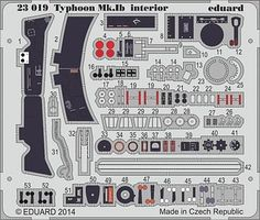 Eduard-Models Typhoon Mk Ib Interior for Airfix Plastic Model Aircraft Decal 1/24 Scale #23019