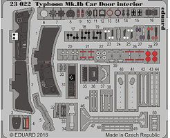 Eduard-Models Typhoon Mk Ib Car Door Interior for ARX Plastic Model Aircraft Accessory 1/24 #23022