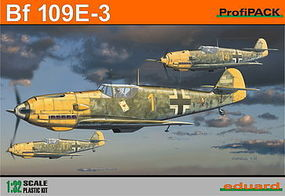 Eduard-Models Bf109E3 Fighter (Profi-Pack) Plastic Model Airplane Kit 1/32 Scale #3002
