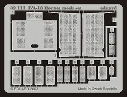 Eduard-Models F/A18 Hornet Mesh Set for Academy Plastic Model Aircraft Accessory 1/32 Scale #32111