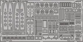 Eduard-Models Swordfish Mk I Exterior Detail for Trumpeter Plastic Model Aircraft Accessory 1/32 #32236