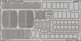 Eduard-Models He111P1 Exterior for Revell Plastic Model Aircraft Accessory 1/32 Scale #32289